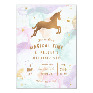 Unicorn Birthday Invitations Announcements Zazzleconz - Birthday invitation nz