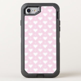 Pastel Valentine Hearts OtterBox Defender iPhone 7 Case