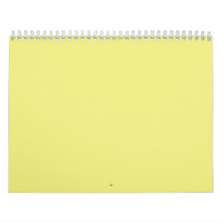 Pastel Yellow Backgrounds on a Calendar