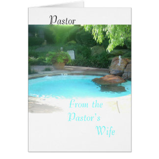 Pastor from the  Pastors wife Card
