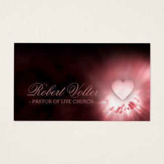 Pastor Of Live Church Heart In The Hands Card