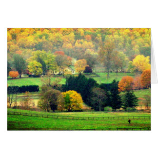 Pastoral countryside blank card