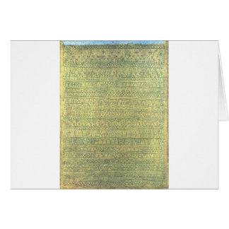 Pastoral (Rhythms) by Paul Klee Card