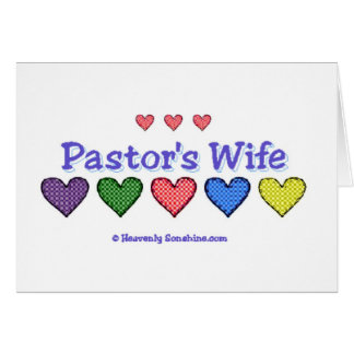 Pastor's Wife Gingham Hearts Card