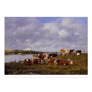 Pasturage, the Valley of the Touques Eugene Boudin Postcard