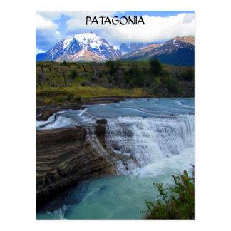 patagonia waterfall postcard