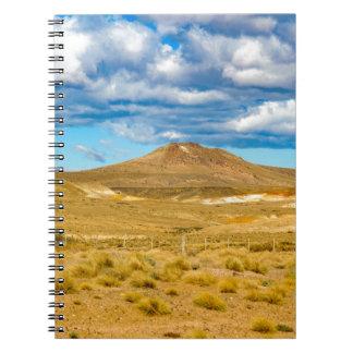 Patagonian Landscape Scene, Argentina Notebooks