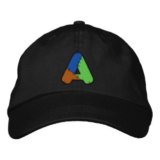 Patchwork Letter A Embroidered Baseball Caps