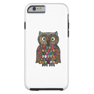 Patchwork Owl Tough iPhone 6 Case