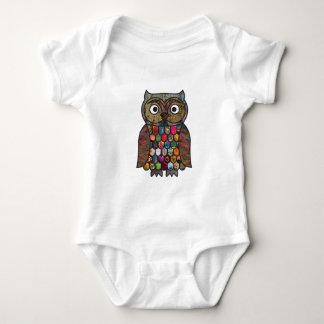 Patchwork Owl Infant Creeper