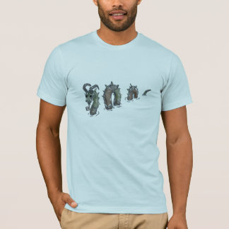 Patchwork sea serpent, light tee shirt