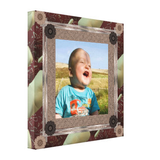 Patchwork Template Wrapped Canvas