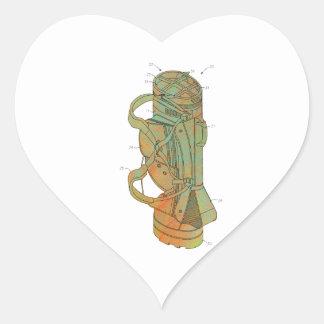 Patent Image of Golf Bag Heart Sticker