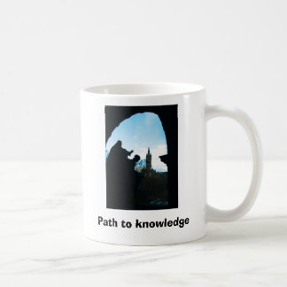 Path to knowledge basic white mug