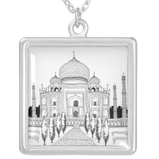 Pathway by Taj Mahal Silver Plated Necklace
