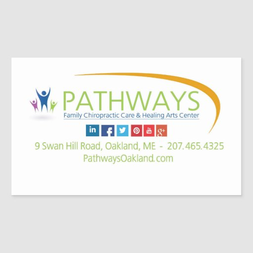 Pathways Oakland sheet of stickers