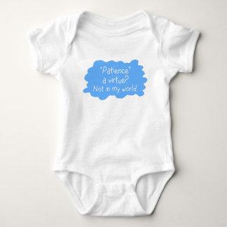Patience a Virtue Blue Baby Bodysuit