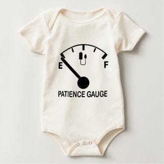 Patience Gauge Empty funny graphic slogan Baby Bodysuit