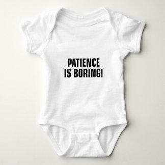 Patience Is Boring Baby Bodysuit