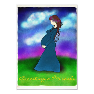 """Patience"" Pregnancy Announcement Card"