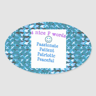 PATIENT Passionate Patriotic Peaceful LOWPRICE Sticker