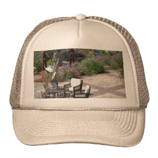 Patio of Croad Tasting Room, Paso Robles Trucker Hat