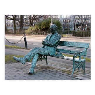 Patrick Kavenagh - Irish Poet Sculpture Postcard