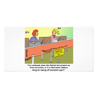 PATRIOT ACT / BANK ROBBERY PERSONALISED PHOTO CARD