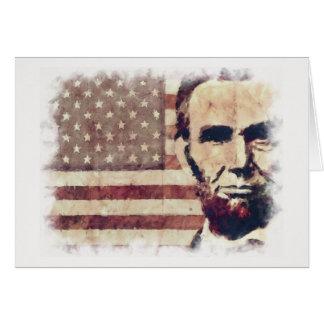 Patriot President Abraham Lincoln Card