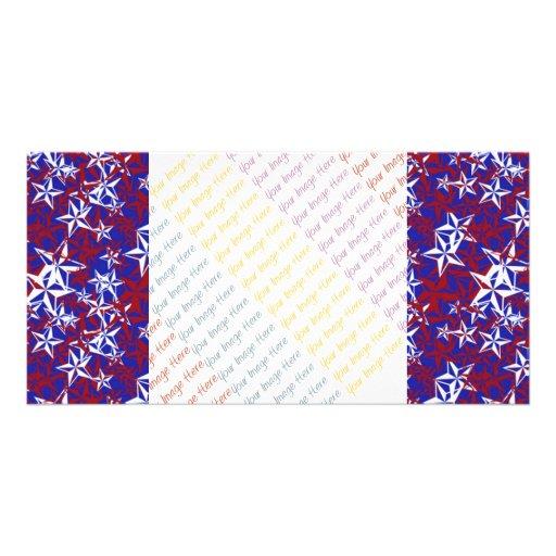 Patriot Stars custom Photo Greeting Card