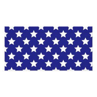Patriot stars pattern custom photo card