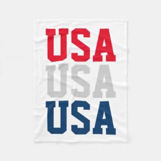 Patriotic 4th of July party USA fleece blankets