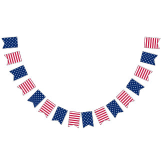 Patriotic 4th of July Red White Blue Party Banner