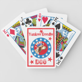 Patriotic American English Coonhound Bicycle Playing Cards