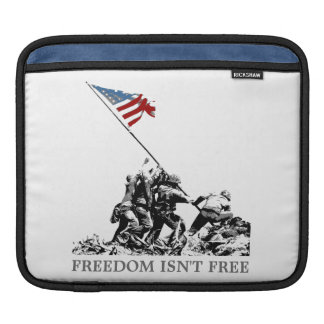 Patriotic American Flag Iwo Jima (Customizable) iPad Sleeve