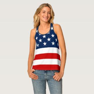 Patriotic American Flag Tank Top