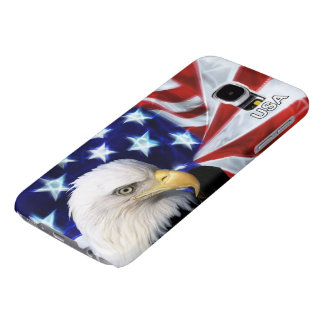 Patriotic American Flag with Bald Eagle - USA! Samsung Galaxy S6 Cases