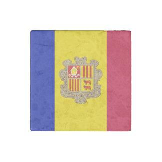 Patriotic Andorra Flag Stone Magnet