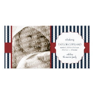 Patriotic Baby Birth Announcement Photo Card