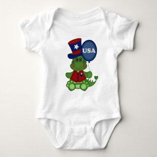 Patriotic balloon dragon baby unisex bodysuit July