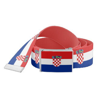 Patriotic Belt with flag of Croatia