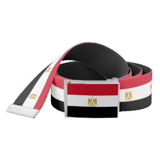Patriotic Belt with flag of Egypt