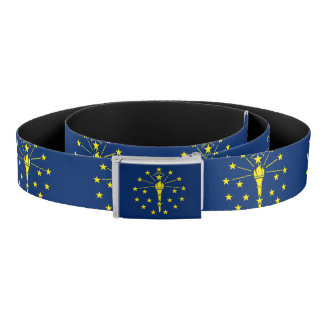 Patriotic Belt with flag of Indiana, U.S.A.