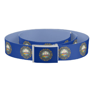 Patriotic Belt with flag of New Hampshire