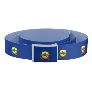 Patriotic Belt with flag of Vermont, USA