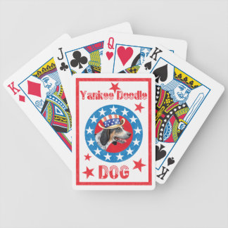 Patriotic Bluetick Bicycle Playing Cards
