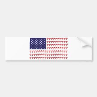 Patriotic BMX Biker American Flag Bumper Sticker