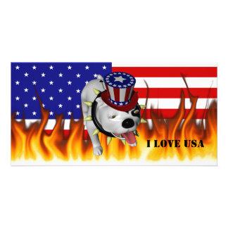 Patriotic BoBo 2 Customized Photo Card