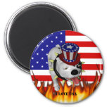 Patriotic BoBo 2 Fridge Magnet