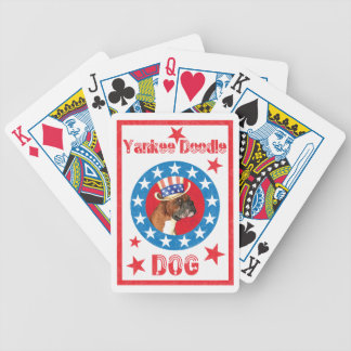 Patriotic Boxer Bicycle Playing Cards